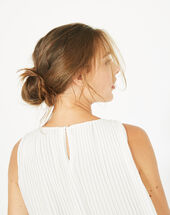 Erica pleated white top white.