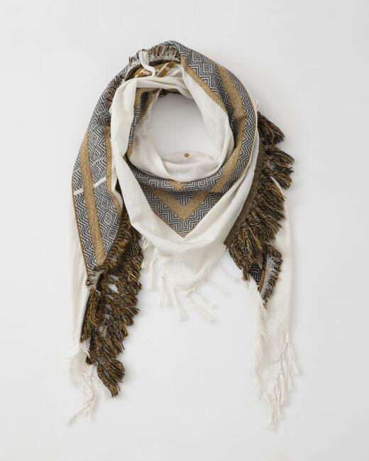 Sign saffron printed scarf (1) - 1-2-3