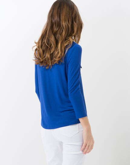 Leden royal blue dual-fabric T-shirt (4) - 1-2-3