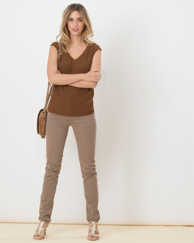 William taupe satin trousers (2) - 1-2-3