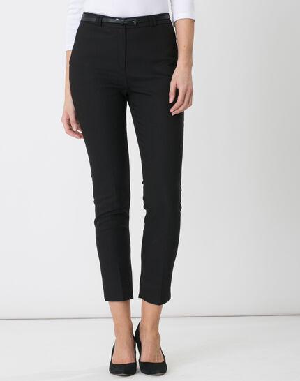 Pauline smart black trousers with belt PhotoZ | 1-2-3