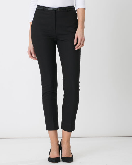 Pauline smart black trousers with belt (2) - 1-2-3