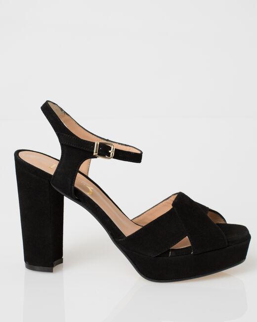 Sandales noires en cuir Jolie (2) - 1-2-3
