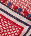 Samantha red printed scarf in cotton PhotoZ | 1-2-3