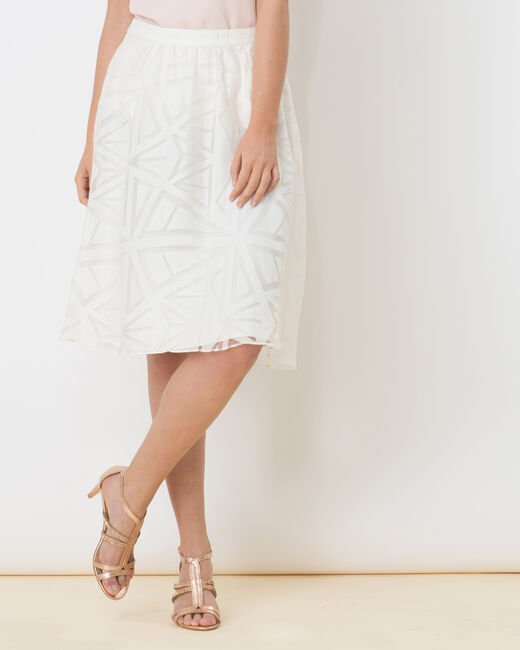 Délice graphic white skirt (2) - 1-2-3