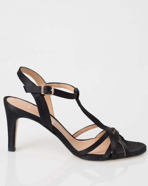 Jackie black open toe pumps (2) - 1-2-3