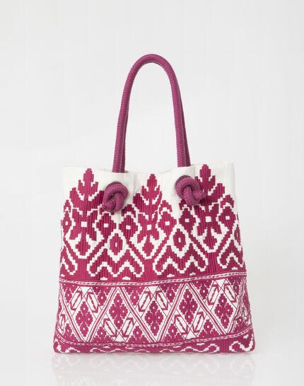 Pavel embroidered fuchsia bag (2) - 1-2-3