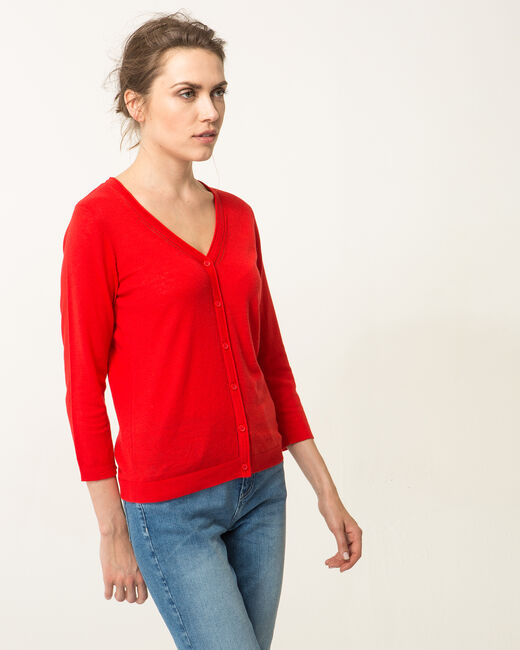 Cardigan rouge Harty (2) - 1-2-3