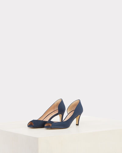 Jasmine open-toed navy blue pumps (2) - 1-2-3