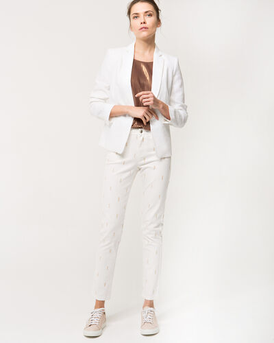 Xylon embroidered 7/8 length white trousers (2) - 1-2-3