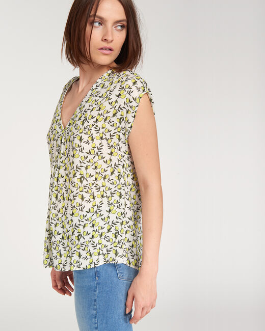 Eclair yellow top with lemon print (2) - 1-2-3