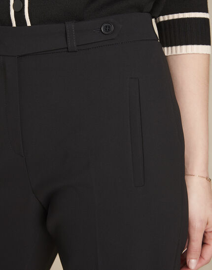 Lara slim-cut tailored black trousers (3) - 1-2-3