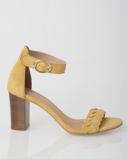 Jade yellow leather sandals (2) - 1-2-3
