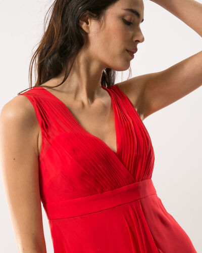 Loulou red dress in silk (1) - 1-2-3