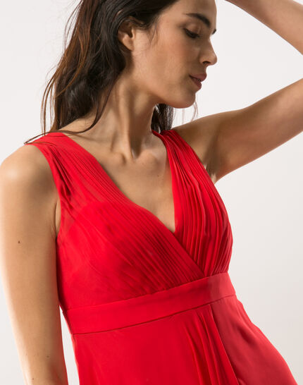 Loulou red dress in silk PhotoZ | 1-2-3