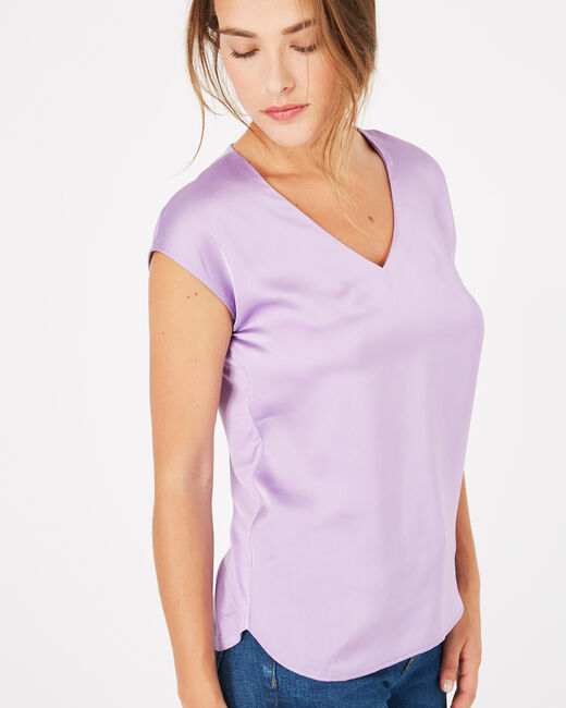 Tee-shirt lilas Blanche (2) - 1-2-3