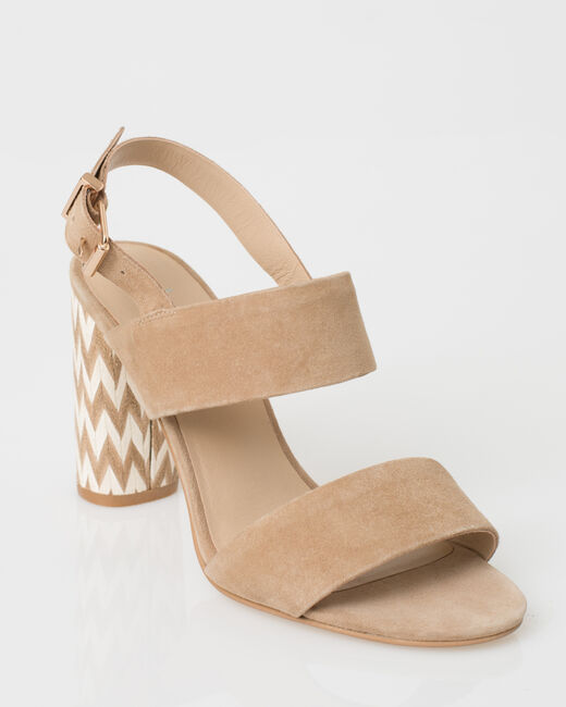 Joy beige leather open sandals (1) - 1-2-3