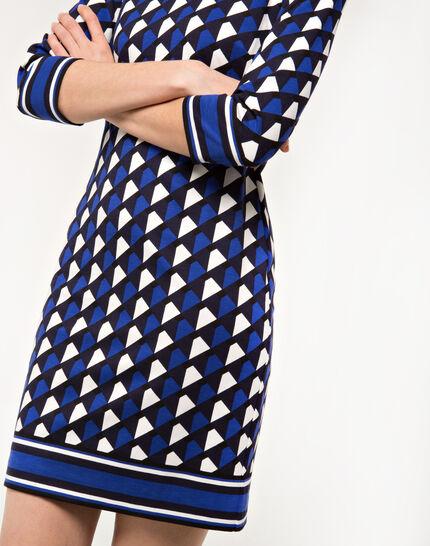 Delila graphic blue dress PhotoZ | 1-2-3