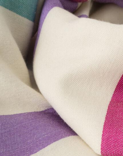 Samy graphic ecru scarf (3) - 1-2-3