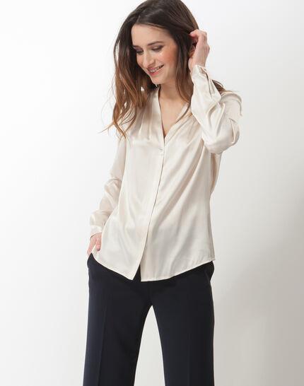 Flo silver-coloured silk blouse PhotoZ | 1-2-3