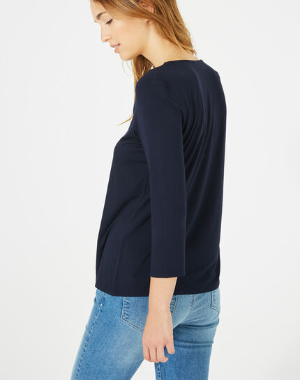 Tee-shirt bleu marine Barbara (5) - 1-2-3