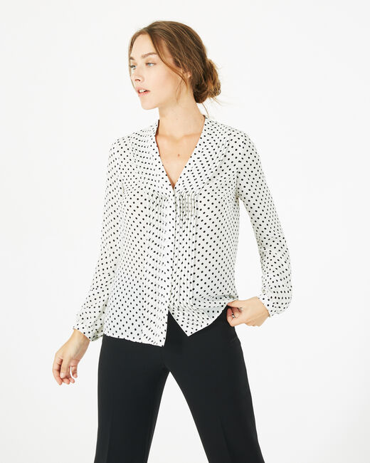 Doris bis white blouse with polka dots (2) - 1-2-3