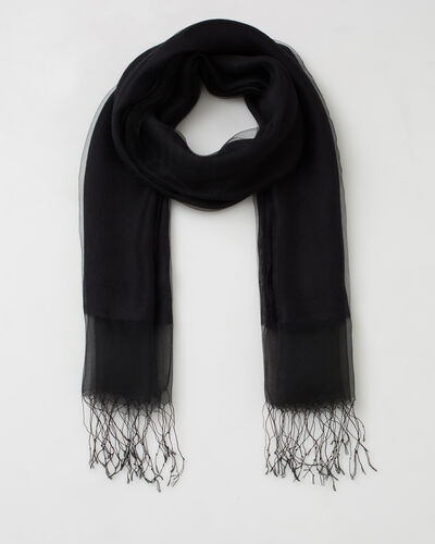 Maeva black silk stole (1) - 1-2-3