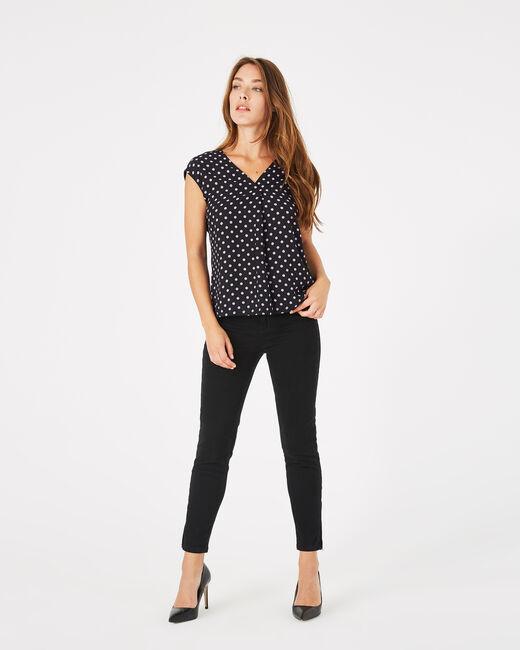 Betina black polka dot T-shirt (1) - 1-2-3