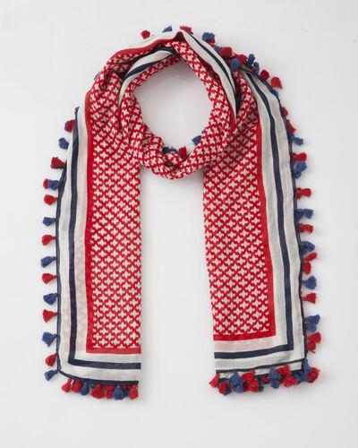 Foulard rouge imprimé en coton Samantha (1) - 1-2-3
