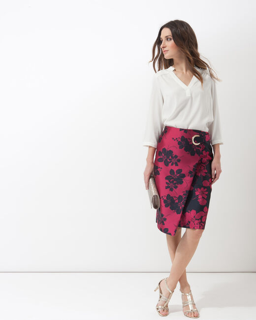 Fuchsia jacquard skirt (2) - 1-2-3