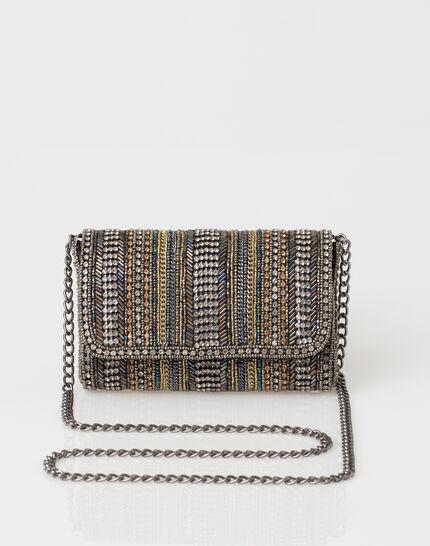 Pamela silver beaded clutch bag (2) - 1-2-3
