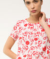 Bobby poppy printed linen dress PhotoZ | 1-2-3