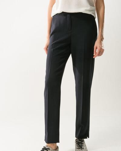 Pantalon de tailleur bleu marine slim Lara (1) - 1-2-3