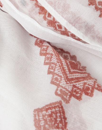 Salma red printed scarf PhotoZ | 1-2-3