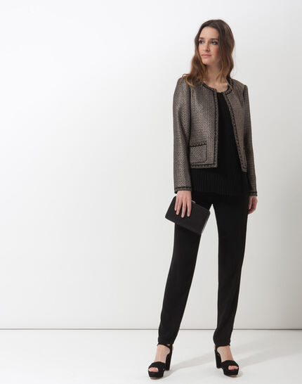 Pantalon noir coupe carotte Douguy (4) - 1-2-3