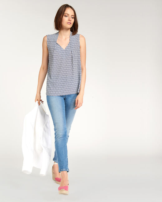 Euphorie bis blue printed top (2) - 1-2-3