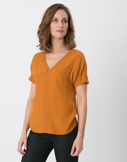 Edwige ochre shirt PhotoZ | 1-2-3