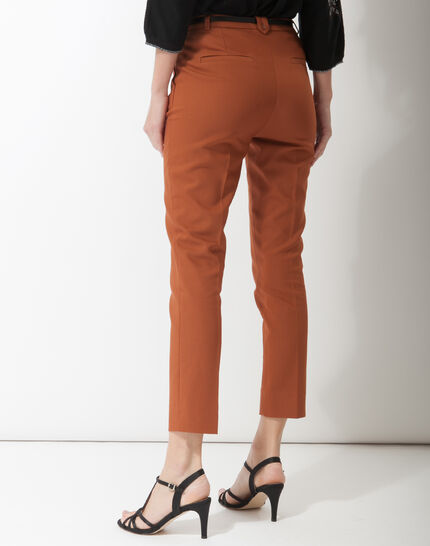 Pauline smart brown trousers with belt (4) - 1-2-3