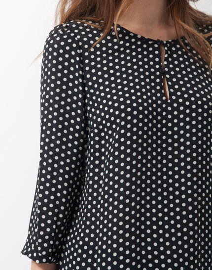 Astrid navy blue polka dot blouse (2) - 1-2-3