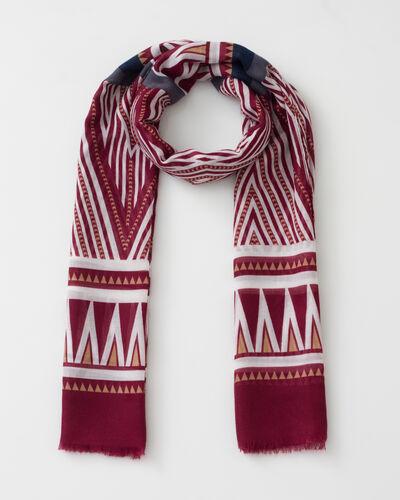Salomé dark purple printed scarf (1) - 1-2-3