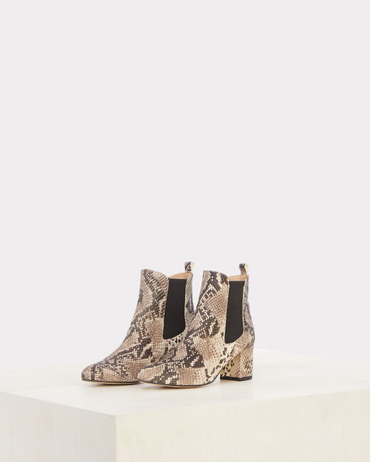Nola snake skin effect leather ankle boots (1) - 1-2-3