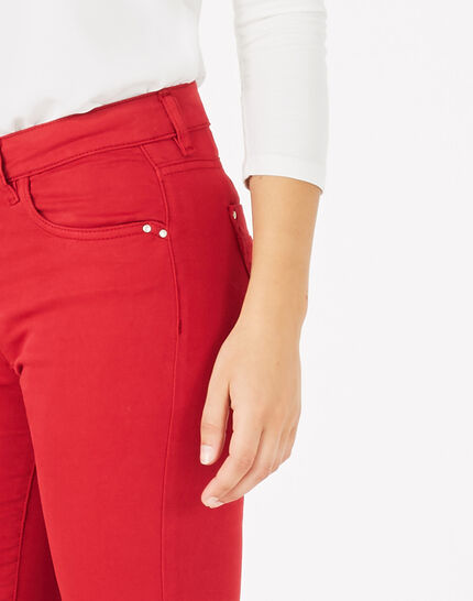 Oliver 7/8 length raspberry trousers (3) - 1-2-3
