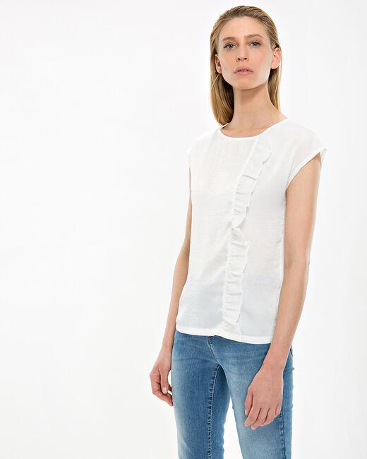 Tee-shirt écru volanté Nougat (2) - 1-2-3