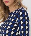 Tee-shirt bleu imprimé Losange PhotoZ   1-2-3