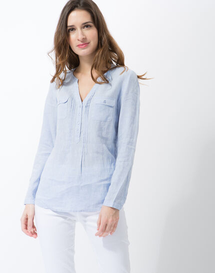 Roma sky blue linen shirt PhotoZ | 1-2-3
