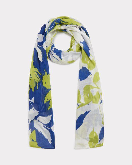 Evana royal blue printed scarf (2) - 1-2-3
