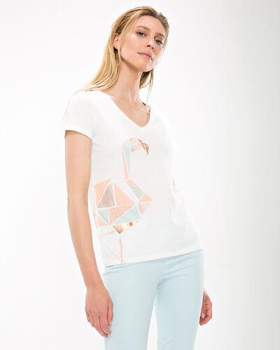 Tee-shirt écru imprimé Nana (1) - 1-2-3