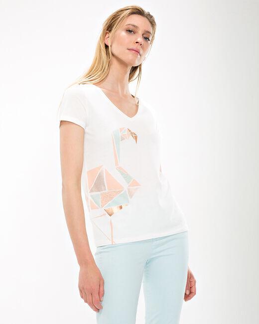 Tee-shirt écru imprimé Nana (2) - 1-2-3