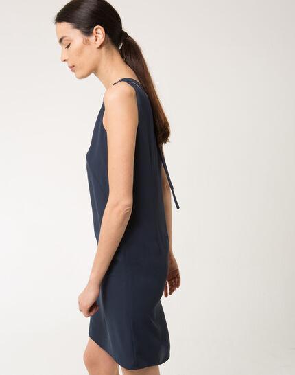 Felicie blue dress with diamanté neckline (3) - 1-2-3