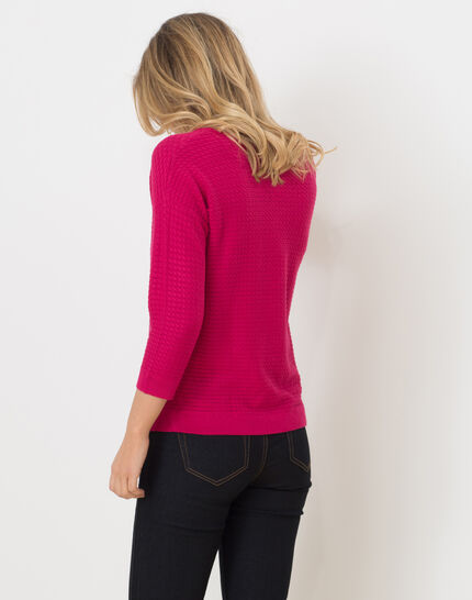Hélice fuchsia sweater with long sleeves (4) - 1-2-3
